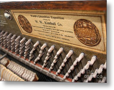 Kimball Piano-3476 Metal Print by Gary Gingrich Galleries