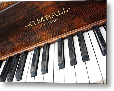 Kimball Piano-3479 Metal Print by Gary Gingrich Galleries