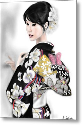 Kimono Girl No.1 Metal Print by Yoshiyuki Uchida