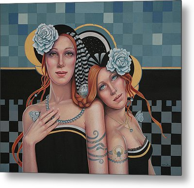 Kindred Spirits Metal Print by Susan Helen Strok