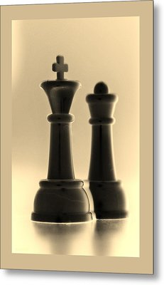 King And Queen In Sepia Metal Print by Rob Hans