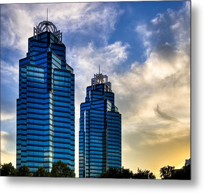 King And Queen Towers - Atlanta Metal Print by Mark E Tisdale