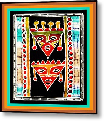 Metal Print featuring the digital art King And Queen by Vagabond Folk Art - Virginia Vivier