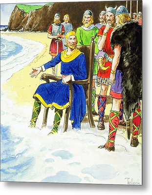 King Canute From Peeps Into The Past Metal Print