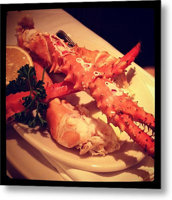 King Crab In Frame Metal Print by Selia Hansen