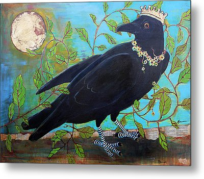 King Crow Metal Print