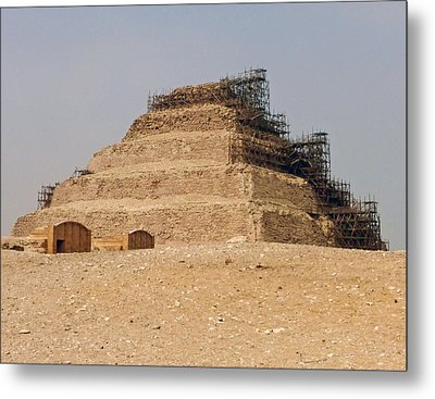 King Djoser The Great Of Saqqara Metal Print by Anthony Baatz