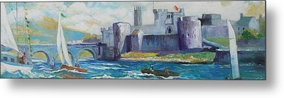King Johns Castle Limerick Ireland Metal Print by Paul Weerasekera