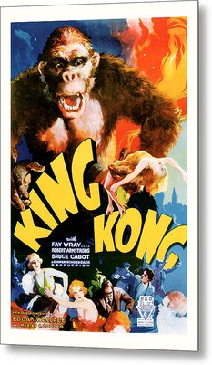Metal Print featuring the mixed media King Kong 1933 Movie Art by Presented By American Classic Art