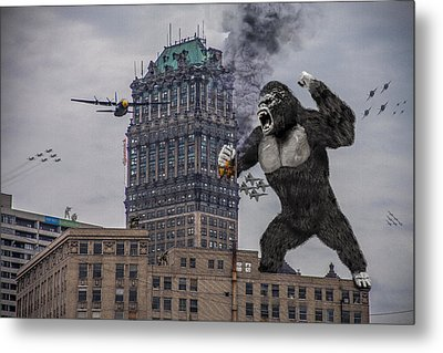 Metal Print featuring the photograph King Kong In Detroit At Wurlitzer by Nicholas  Grunas
