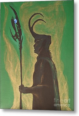 King Loki Metal Print