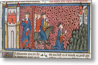 King Louis Ix Of France Metal Print by British Library