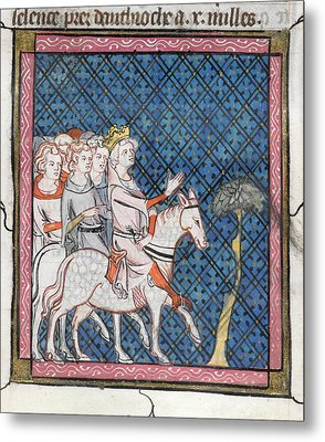 King Louis Vii Rides To Antioch Metal Print by British Library