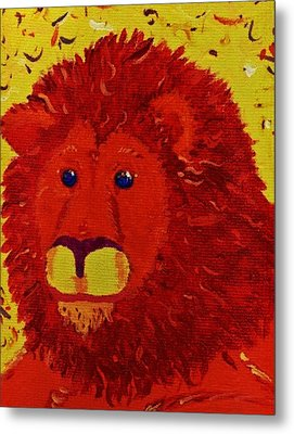 King Of Beasts Metal Print by Yshua The Painter