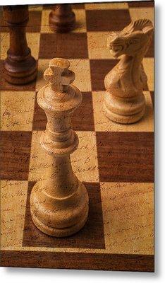 King Of Chess Metal Print