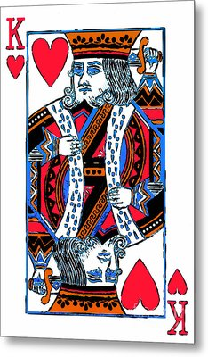 King Of Hearts 20140301 Metal Print by Wingsdomain Art and Photography