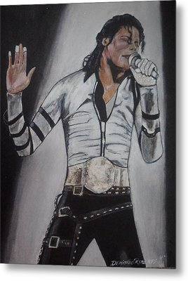 King Of Pop Metal Print by Demitrius Roberts