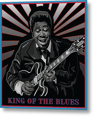 King Of The Blues Metal Print by Larry Butterworth