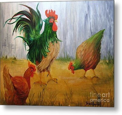 King Of The Chicken Yard Metal Print