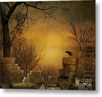 King Of The Ruins Metal Print by Bedros Awak
