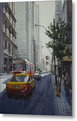 Metal Print featuring the painting King Street 01 by Helal Uddin