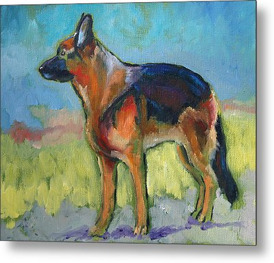 King The German Shepherd Dog Metal Print