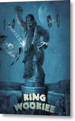 King Wookiee Metal Print by Eric Fan