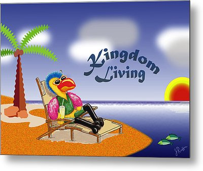 Kingdom Living Metal Print by Jerry Ruffin