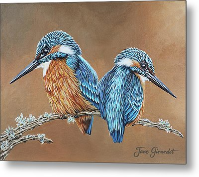 Kingfishers Metal Print by Jane Girardot