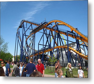 Kings Dominion - Dominator - 01131 Metal Print by DC Photographer