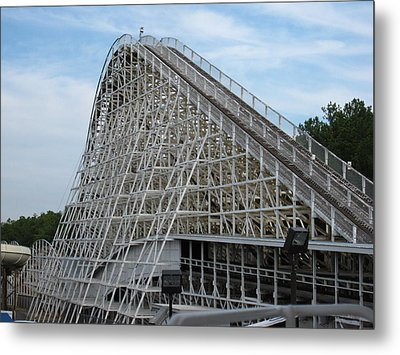 Kings Dominion - Rebel Yell - 12121 Metal Print by DC Photographer