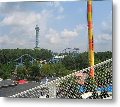 Kings Dominion - Shockwave - 01132 Metal Print by DC Photographer