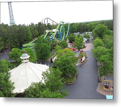 Kings Dominion - Shockwave - 01133 Metal Print by DC Photographer