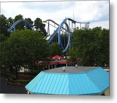 Kings Dominion - Shockwave - 12121 Metal Print by DC Photographer
