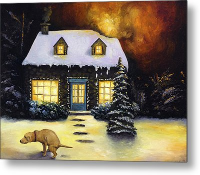 Kinkade's Worst Nightmare Metal Print by Leah Saulnier The Painting Maniac