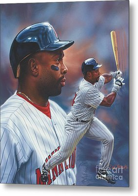 Kirby Puckett Minnesota Twins Metal Print by Dick Bobnick