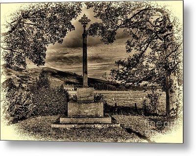 Kirknewton War Memorial Northumberland Metal Print