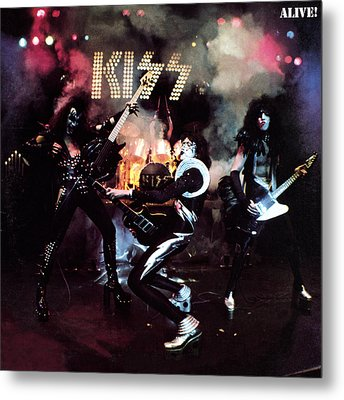 Kiss - Alive! Metal Print by Epic Rights