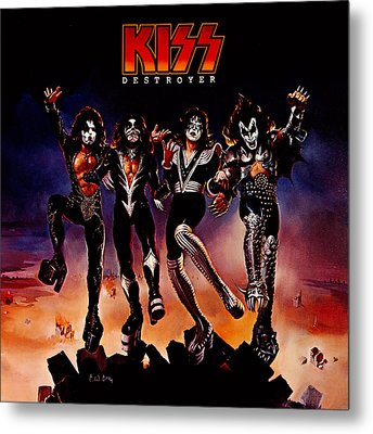 Kiss - Destroyer Metal Print by Epic Rights