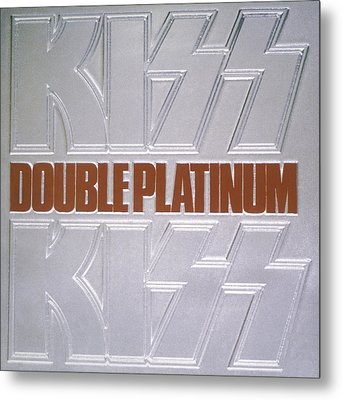 Kiss - Double Platinum Metal Print by Epic Rights