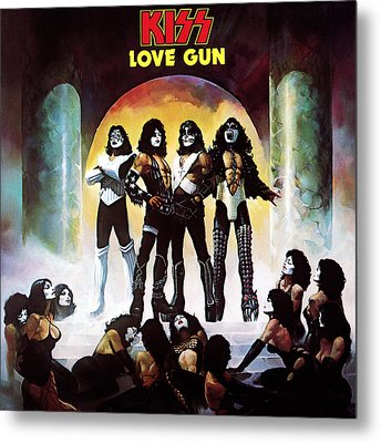Kiss - Love Gun Metal Print by Epic Rights