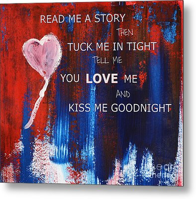 Kiss Me Goodnight Metal Print by Andrea Anderegg