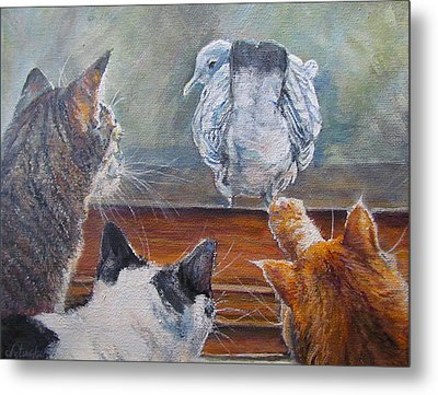 Metal Print featuring the painting Kiss My Assssssss by Donna Tucker
