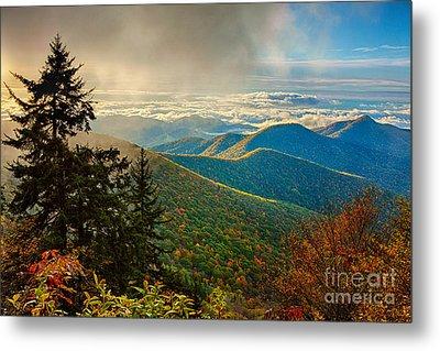 Kiss Of Sunshine - Blue Ridge Mountains I Metal Print