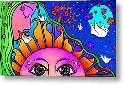 Kiss The Sun Metal Print