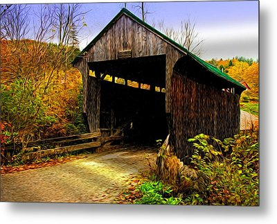 Kissing Bridge Metal Print by Bill Howard
