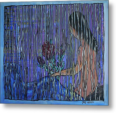 Kissing Rain Metal Print by Barbara St Jean