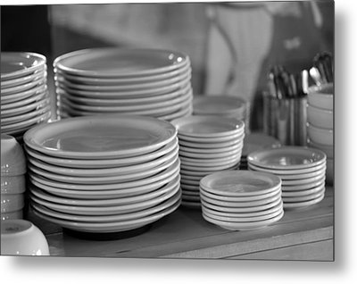 Kitchen - Ready To Serve Metal Print by Harold E McCray