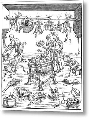 Kitchen, 1549 Metal Print by Granger
