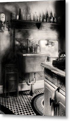 Kitchen - An Old Kitchen Metal Print by Mike Savad